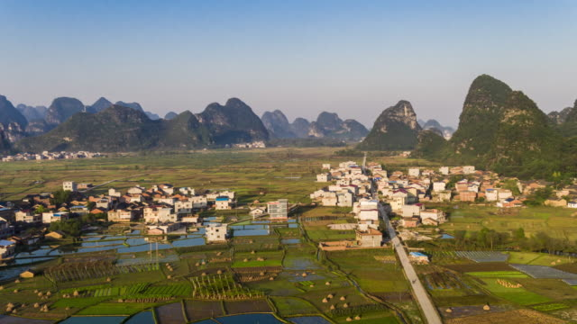 hui xian national wetland park in lingui,guilin,china - guilin stock videos & royalty-free footage