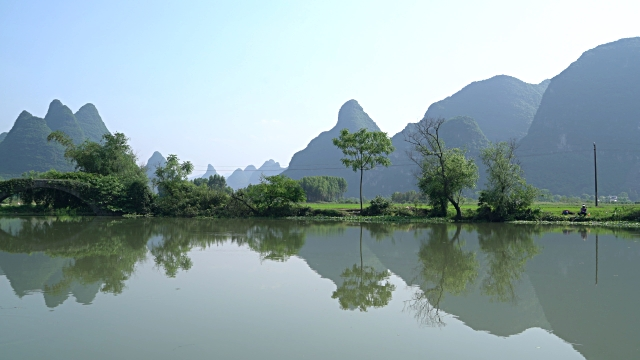 huixian wetland park,lingui,guilin,guangxi,china - stone material stock videos & royalty-free footage