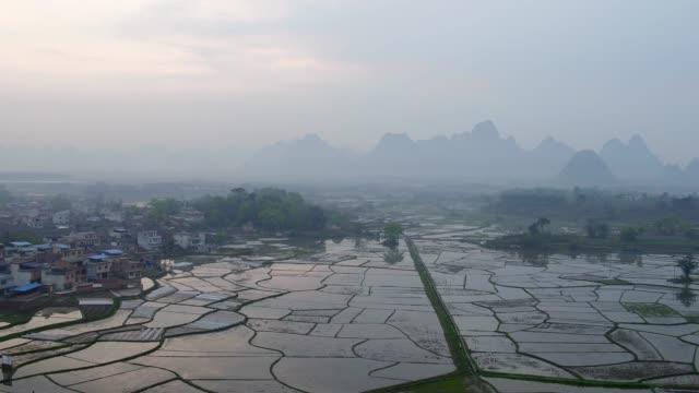 huixian wetland park,lingui,guilin,guangxi,china - guilin stock videos & royalty-free footage