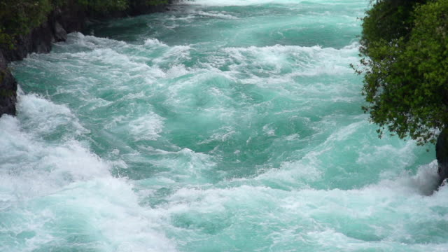slowmotion: huka falls new zealand - rapid stock videos & royalty-free footage