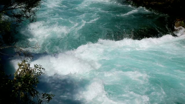 huka falls, taupo, north island, new zealand - north island new zealand stock videos & royalty-free footage