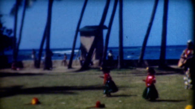 hula babies - hawaii islands stock videos and b-roll footage