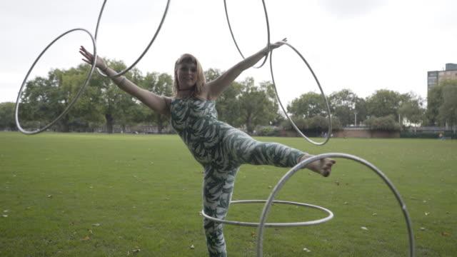 Hula Hooping Girl