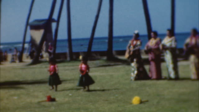 hula twins on august 01 1943 in waikiki hawaii - 1943 stock videos & royalty-free footage