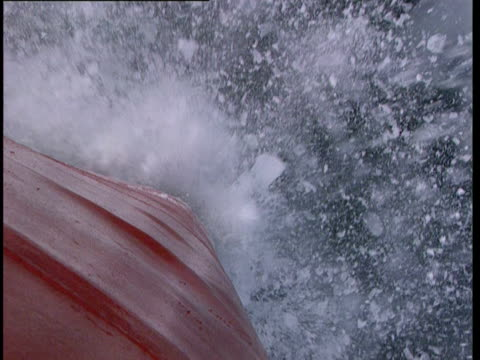 cu, ha, hull of ship traveling forward through icy water, lake michigan, michigan, usa - ship's bow stock videos and b-roll footage