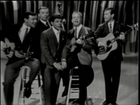hullabaloo show 38 / live vocals & music - frankie avalon stock videos & royalty-free footage