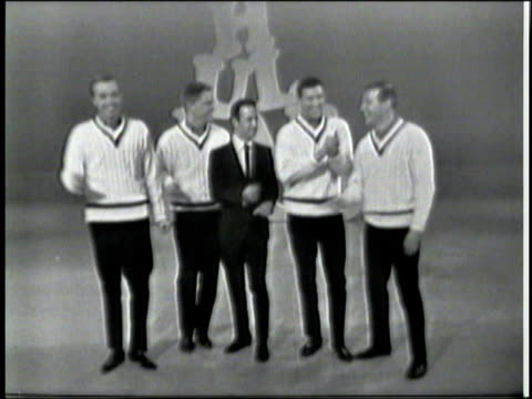 hullabaloo show 6 / hullabaloo dancers / hosts: frankie avalon, annette funicello / guests: don adams, the brothers four, freddie and the dreamers,... - the kinks stock videos & royalty-free footage