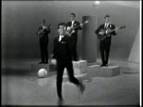 hullabaloo show 6 / sync vocals & music - frankie avalon stock videos & royalty-free footage