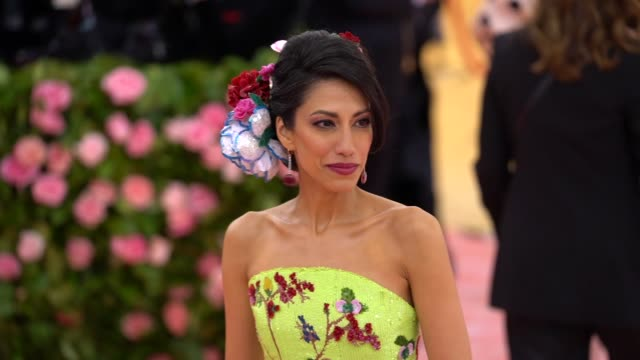 Huma Abedin at The 2019 Met Gala Celebrating Camp Notes on Fashion Arrivals at Metropolitan Museum of Art on May 06 2019 in New York City