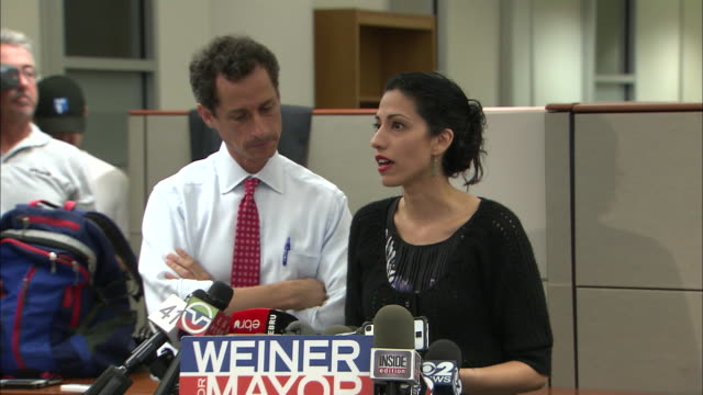 vídeos y material grabado en eventos de stock de huma abedin talks about the difficulties in her marriage with anthony weiner after more lewd behavior surfaces during his 2013 campaign for mayor of... - huma abedin