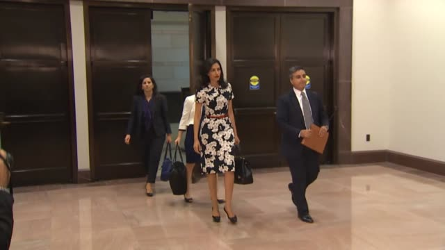 huma abedin trusted aide to presidential candidate hillary clinton arrives on capitol hill for an interview with staff of the house select committee... - huma abedin hillary clinton stock videos & royalty-free footage