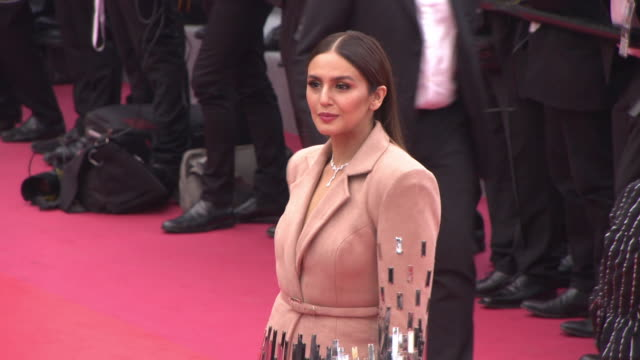 huma qureshi at 'sorry angel' red carpet at grand theatre lumiere on may 10 2018 in cannes france - grand theatre lumiere stock videos & royalty-free footage
