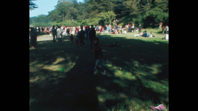 vídeos de stock e filmes b-roll de human bein summer solstice hippies and rock and roll in golden gate park - love in