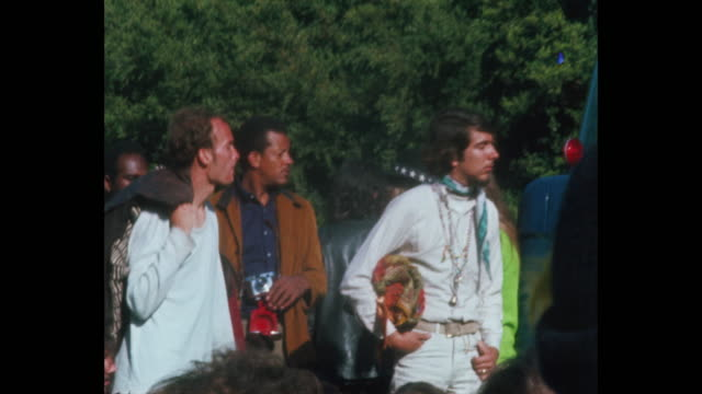 human be-in summer solstice hippies and rock and roll in golden gate park - 1967 bildbanksvideor och videomaterial från bakom kulisserna