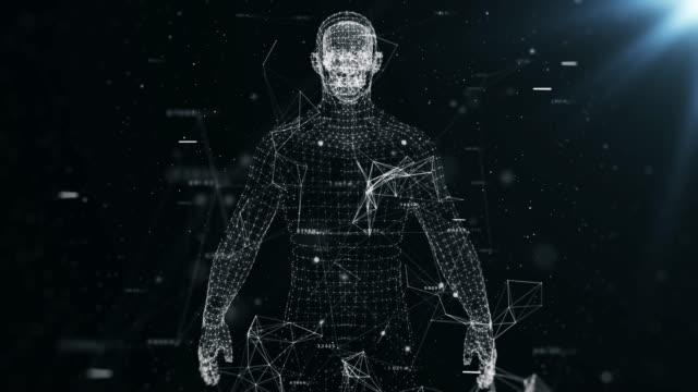 4k human body analysis - cyborg stock videos & royalty-free footage