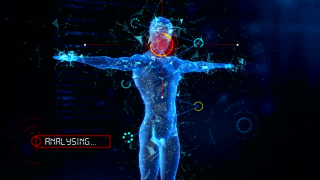 scansione medica del corpo umano 4k (loopable) - biomedical animation video stock e b–roll