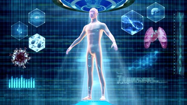 menschlicher körper medizinischer scan - halswirbelsäule stock-videos und b-roll-filmmaterial