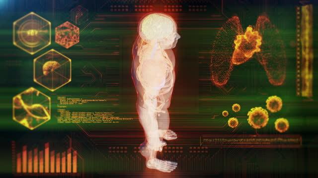 vídeos de stock, filmes e b-roll de escaneamento médico do corpo humano - membro parte do corpo