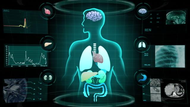 人体医療 x 線スキャン - 生理学点の映像素材/bロール