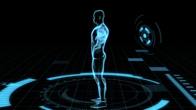 human body scan futuristic - male likeness stock videos & royalty-free footage