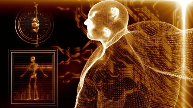 human body scan - cartilagine video stock e b–roll