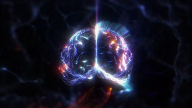 human brain hologram - human internal organ stock videos & royalty-free footage