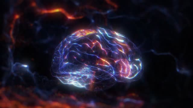 human brain hologram - neuroscience stock videos & royalty-free footage