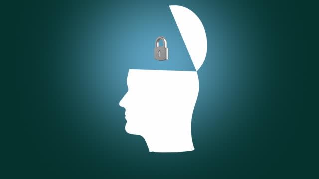 vídeos de stock, filmes e b-roll de cérebro humano de pensar. - símbolo conceitual