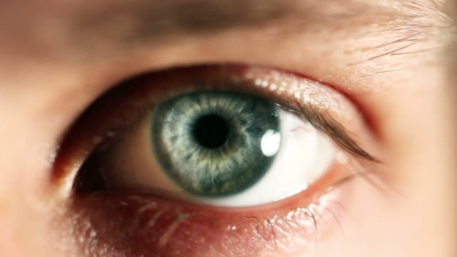 human eye blinking - eyeball stock videos and b-roll footage