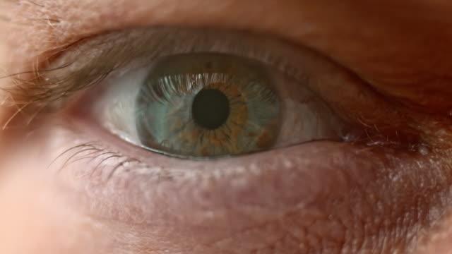 ECU Human eye with a multi colored iris