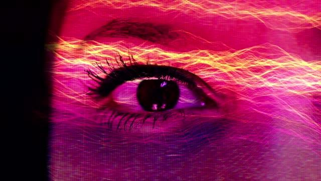 vidéos et rushes de œil humain avec le numérique, mode de fusion. - complexité