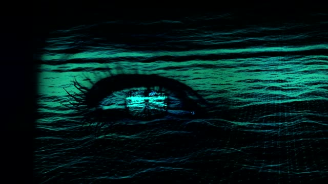 stockvideo's en b-roll-footage met menselijk oog met galaxy en digitale overvloeimodus. - de volgende stap