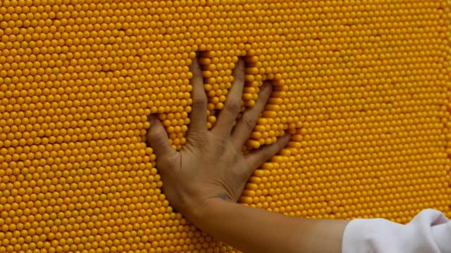 human hand  playing toy , mold , hand-print