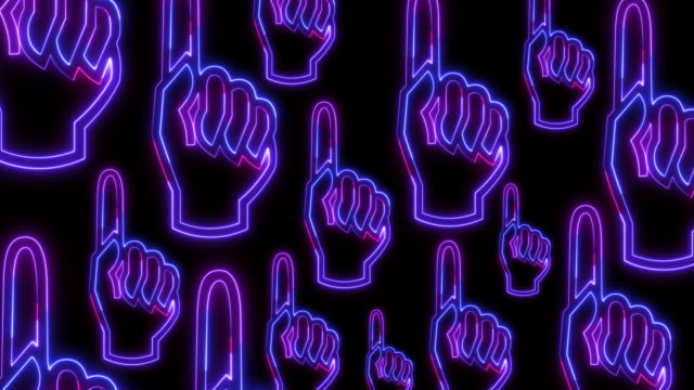 human hand pointing finger in neon light style  on dark background vertical background for instagram - human finger stock videos & royalty-free footage