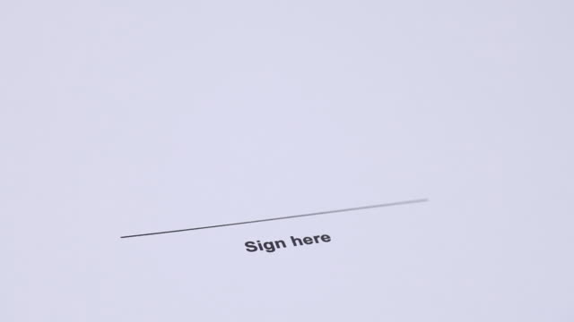 human hand signing contract - signature stock videos and b-roll footage
