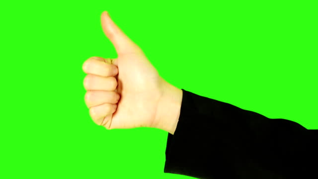 human hand thumb up with green screen background - keyable stock videos & royalty-free footage