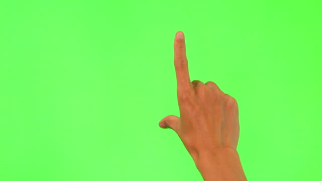 human hand touching green screen - finger stock videos and b-roll footage