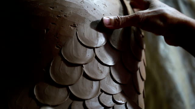 human hands making clay pot. - cooking pan stock videos and b-roll footage