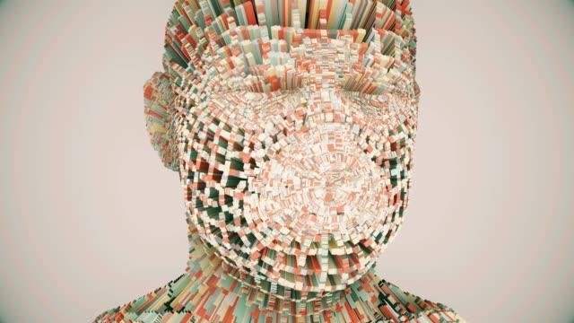 animazione multistrato human head - human brain video stock e b–roll