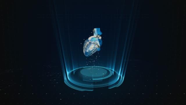 vídeos de stock, filmes e b-roll de fundo do coração humano 4k - lobo temporal