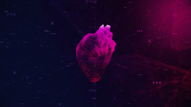 4k human heart medical scan - pulsating stock videos & royalty-free footage