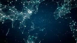 human icon connect global world map, dot makes global communication. social media network. 4.