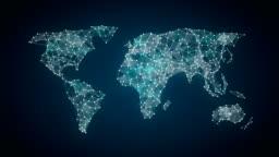 human icon connect global world map, dot makes global communication. social media network. 3.