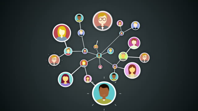 Human icon, Connecting people, business network. social media service icon.