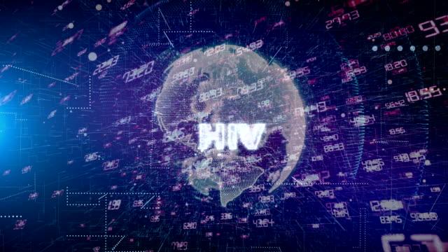 hiv human immunodeficiency virus title animation - vettore della malattia video stock e b–roll