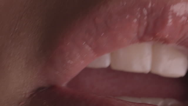 human mouth in close up - human mouth stock videos & royalty-free footage