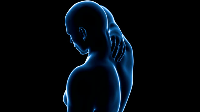 human neck pain - human neck stock videos & royalty-free footage