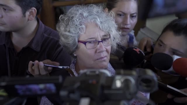 human rights groups hold a press conference in managua after nicaragua expelled two missions of the inter american commission on human rights... - managua stock videos & royalty-free footage