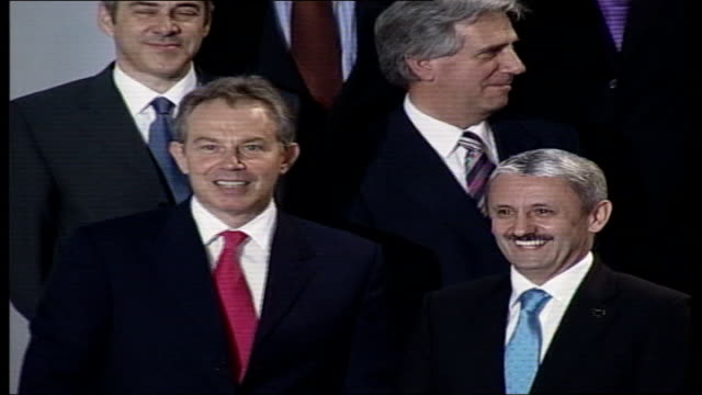 changes being considered austria vienna int tony blair mp photocall with other leaders at eu and latin american leaders summit back view bikiniclad... - human back stock videos & royalty-free footage
