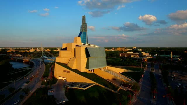 human rights museum in winnipeg, manitoba - manitoba stock videos & royalty-free footage